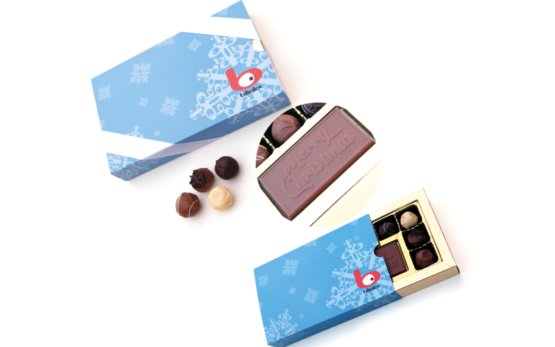 Luxury chocolates are the perfect gift to thank clients at Christmas!
