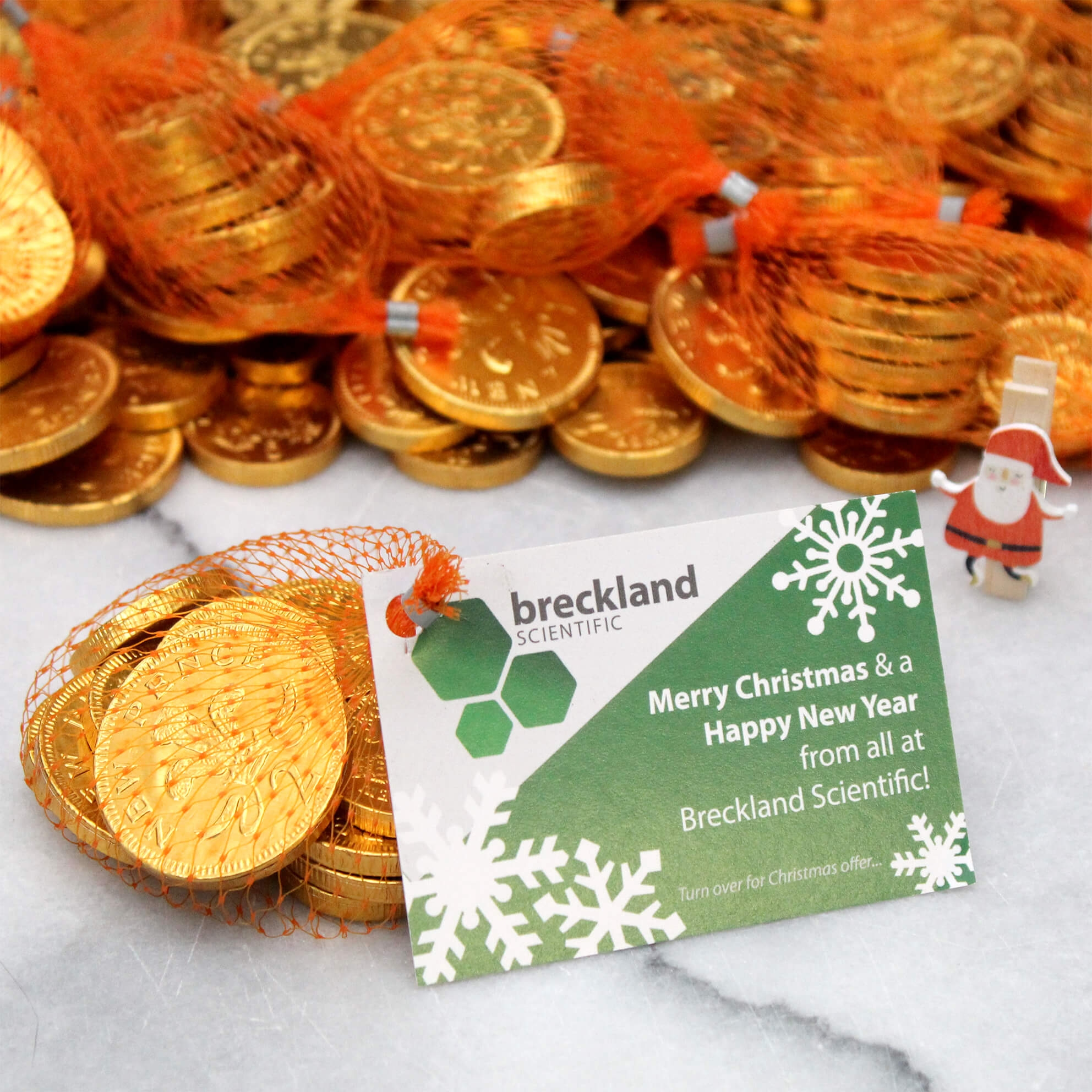 Christmas Coin Nets with Branded Tags