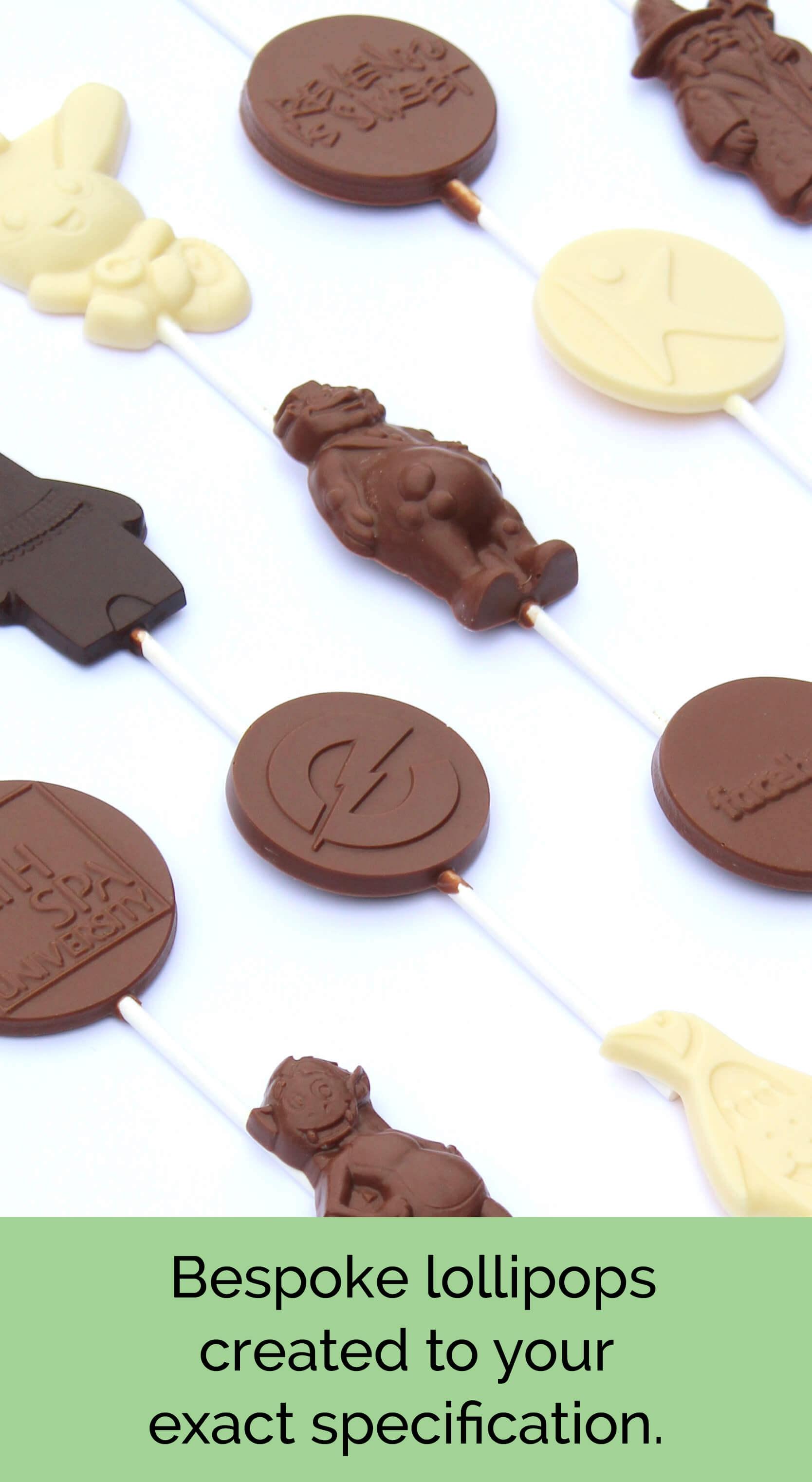 Bespoke Chocolate Lollipops