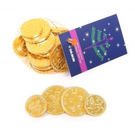 Christmas Chocolate Coin Net Large