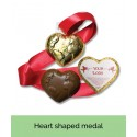 Heart Shaped Bespoke Chocolate Medals