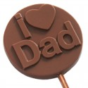 I Love Dad Chocolate Lollipop