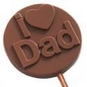 I Love Dad Chocolate Lollipop