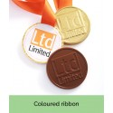 Bespoke Chocolate Medal with Coloured Ribbon