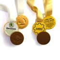 Chocolate Medals with ribbons